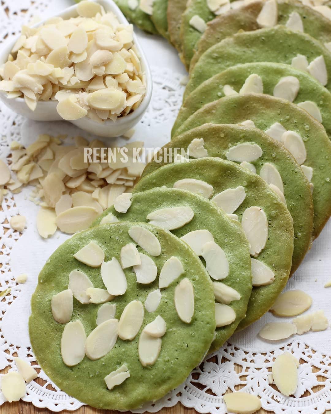 Green Tea  Almond Tuile