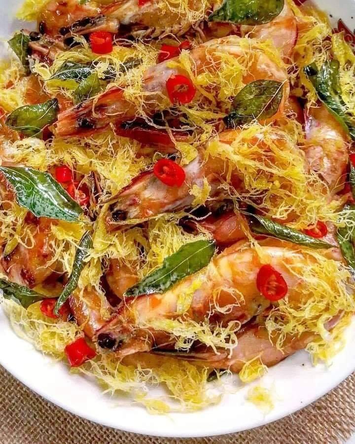 Abon Telur Emas Mentega Udang Golden Egg Floss Butter Prawns