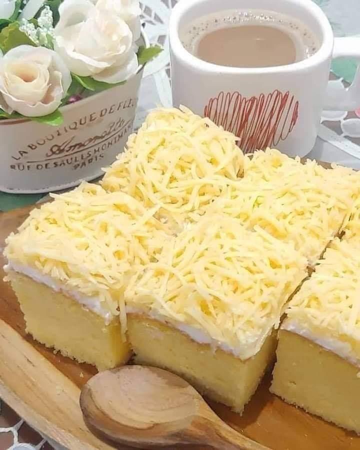 Sponges cake topping keju