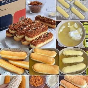 Roti Goreng Abon Mayo