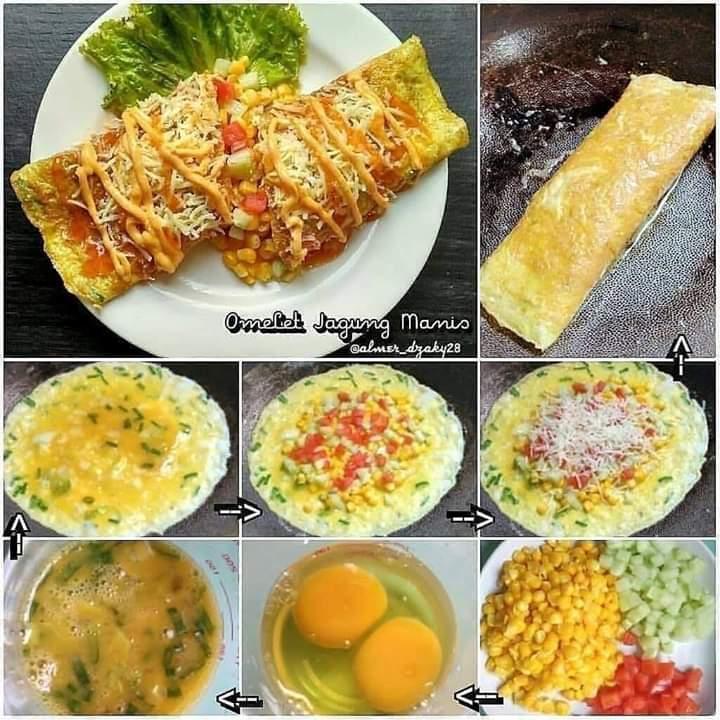 Omelet Jagung Manis
