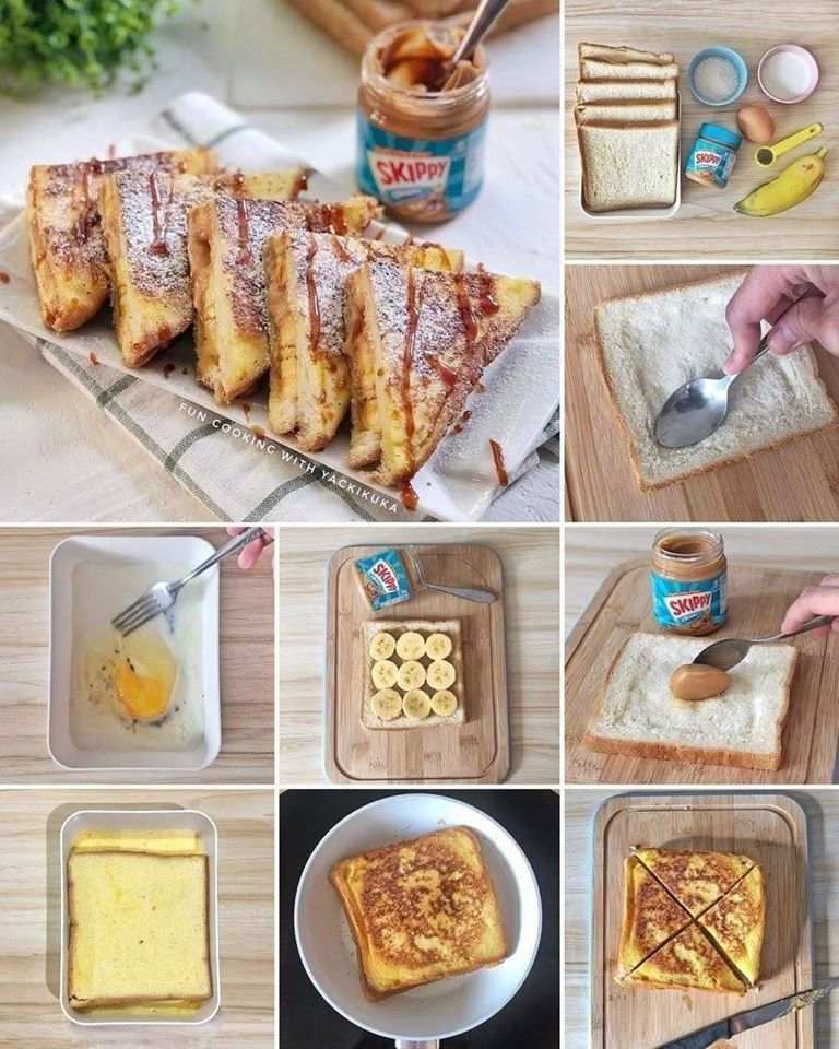 Skippy Banana Caramel French Toast
