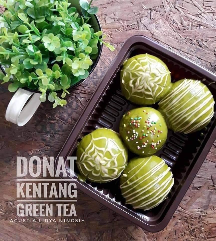 Donat Kentang Green Tea