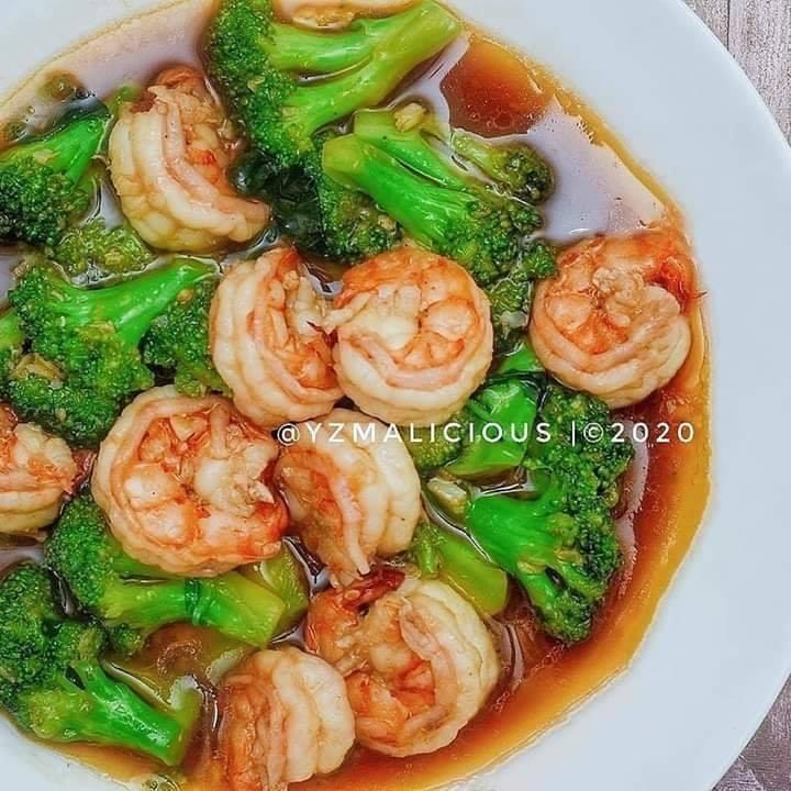Brokoli Udang Saus Bawang Putih